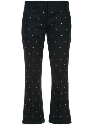 Расклешенные брюки с заклепками Nº21. Цвет: зеленый