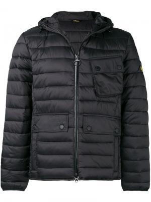 Ouston quilted jacket Barbour. Цвет: черный