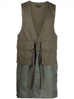 Длинный жилет Engineered Garments. Цвет: зеленый