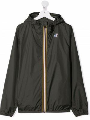 Куртка на молнии с логотипом K Way Kids. Цвет: зеленый