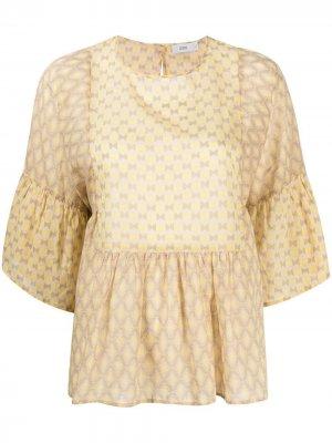 Блузка с геометричным принтом Closed. Цвет: желтый