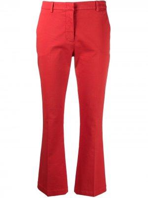 Укороченные расклешенные брюки Pt01. Цвет: красный