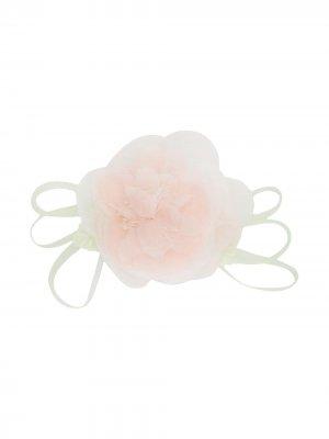 Брошь с цветочной аппликацией Piccola Ludo. Цвет: розовый