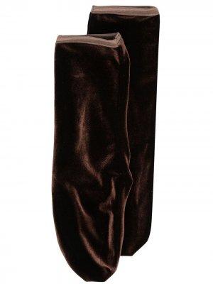 Бархатные носки Simone Wild. Цвет: коричневый