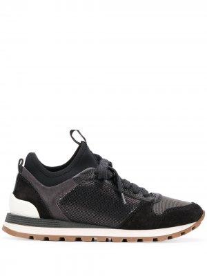 Кроссовки в стиле колор-блок Brunello Cucinelli. Цвет: черный