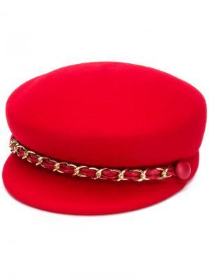 Шляпа Sabrina Eugenia Kim. Цвет: red