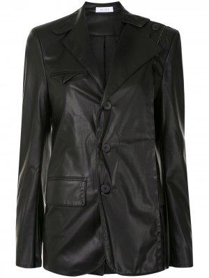 Пиджак с необработанным краем Delada. Цвет: черный