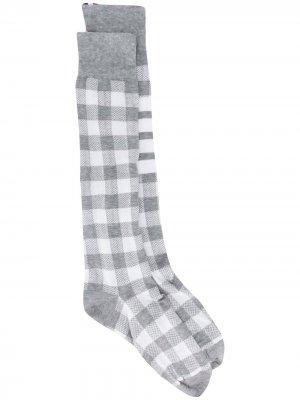 Носки с полосками 4-Bar Thom Browne. Цвет: серый