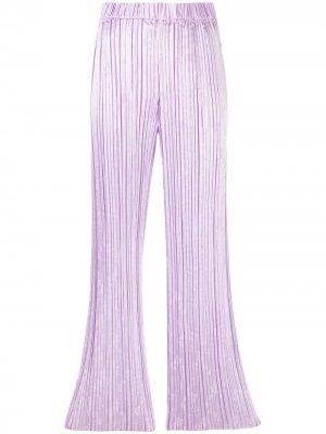 Расклешенные плиссированные брюки Forte. Цвет: фиолетовый