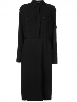 Платье-рубашка в стиле милитари TOM FORD. Цвет: черный