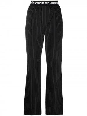 Спортивные брюки с логотипом на поясе alexanderwang.t. Цвет: черный