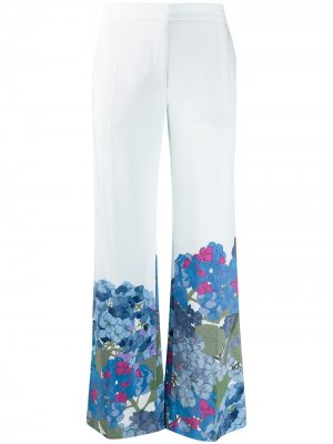 Расклешенные брюки с принтом Valentino. Цвет: синий