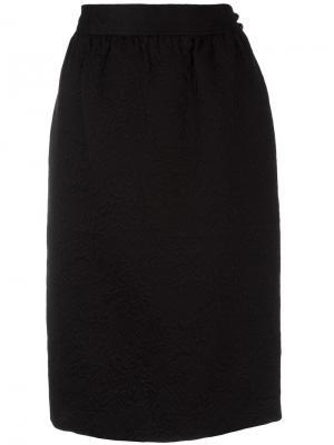 Жаккардовая юбка Emanuel Ungaro Pre-Owned. Цвет: черный
