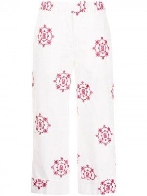 Укороченный брюки с вышитым логотипом Simone Rocha. Цвет: белый