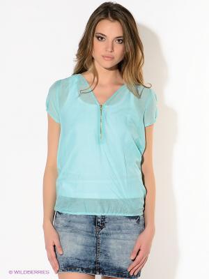 Блузка American Outfitters. Цвет: бирюзовый