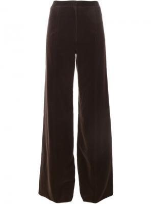 Широкие брюки Emanuel Ungaro Pre-Owned. Цвет: коричневый
