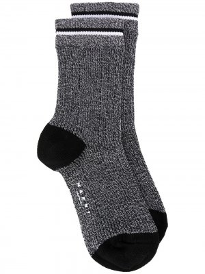 Трикотажные носки в мелкую точку Marni. Цвет: серый