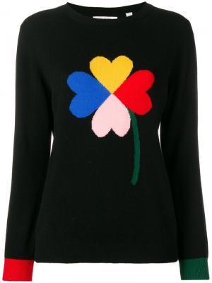 Приталенный свитер дизайна колор-блок Chinti & Parker. Цвет: черный
