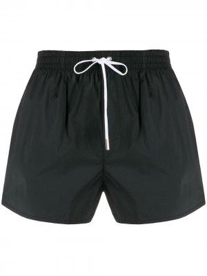 Плавки-шорты с логотипом Dsquared2. Цвет: черный
