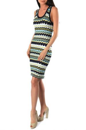 Платье Aftershock. Цвет: navy multi