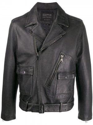 Байкерская куртка из коллаборации с Led Zeppelin John Varvatos. Цвет: черный