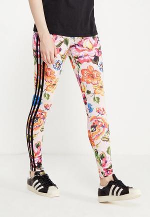 Леггинсы adidas Originals. Цвет: разноцветный