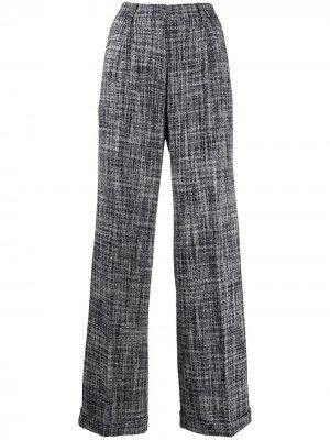 Твидовые брюки широкого кроя Off-White. Цвет: синий