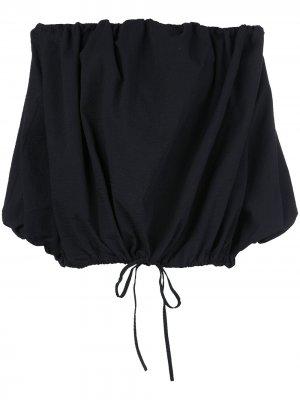 MarquesAlmeida фактурный топ с открытыми плечами Marques'Almeida. Цвет: черный