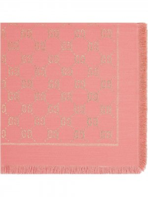 Платок с узором GG Gucci Kids. Цвет: розовый