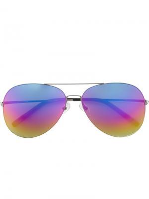 Солнцезащитные очки Rainbow Sunrise Matthew Williamson. Цвет: металлический