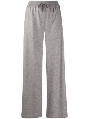 Трикотажные брюки Loro Piana. Цвет: серый