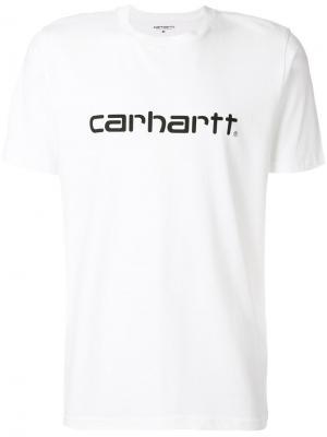 Футболка с заплаткой логотипом Carhartt. Цвет: 02.90 белый/черный