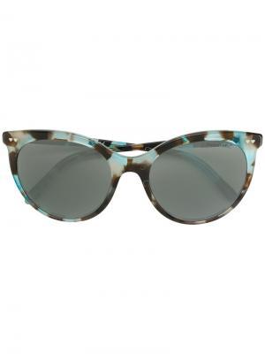 Солнцезащитные очки кошачий глаз с узором Tiffany & Co.. Цвет: синий