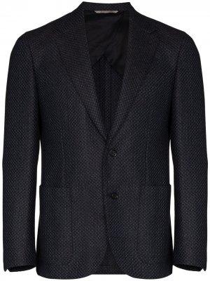 Фактурный пиджак Canali. Цвет: синий