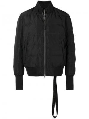 Утепленная куртка-бомбер Blackbarrett. Цвет: черный