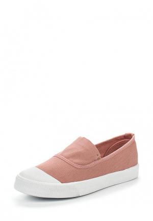 Слипоны Ideal Shoes. Цвет: розовый