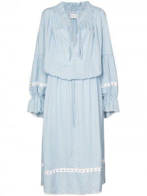 MarquesAlmeida платье-трапеция длины миди Marques'Almeida. Цвет: синий