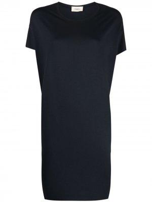 Платье-футболка с короткими рукавами Barena. Цвет: синий