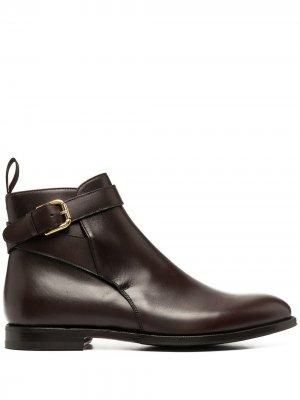 Ботинки с пряжками Scarosso. Цвет: коричневый