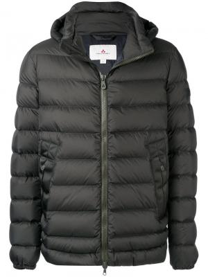Пуховая куртка с капюшоном Peuterey. Цвет: зеленый