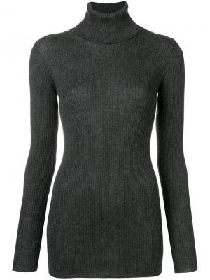 Roll neck ribbed sweater Iris Von Arnim. Цвет: серый