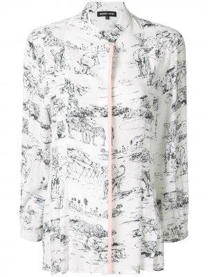 Рубашка Serengeti с принтом Markus Lupfer. Цвет: белый/черный