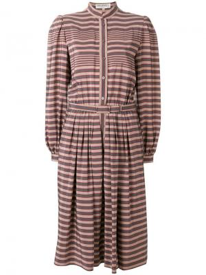 Платье с длинными рукавами в полоску Ted Lapidus Vintage. Цвет: нейтральные цвета