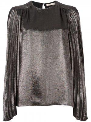 Блузка с плиссированными рукавами Christopher Kane. Цвет: золотистый