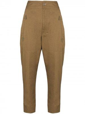 Зауженные брюки карго Raluniae Isabel Marant Étoile. Цвет: коричневый