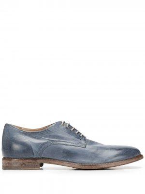 Оксфорды на шнуровке MOMA. Цвет: синий