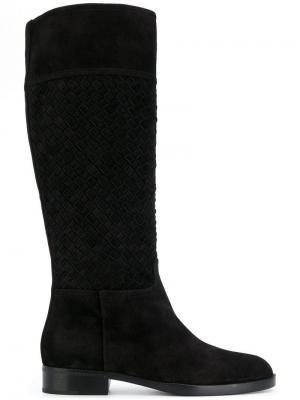 Сапоги с закругленным носком Bottega Veneta. Цвет: черный