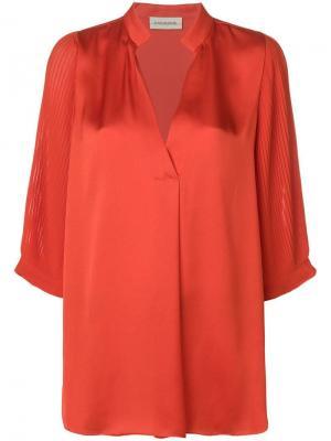 Pleated sleeve blouse By Malene Birger. Цвет: желтый