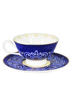 Чашка с блюдцем Узор UNION. Цвет: синий