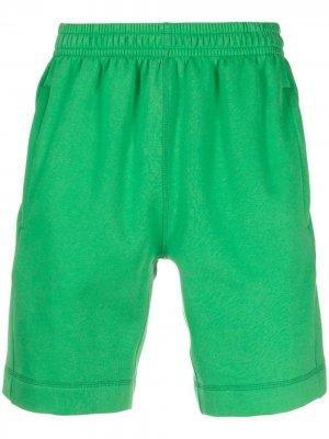 Спортивные шорты с нашивкой-логотипом Styland. Цвет: зеленый